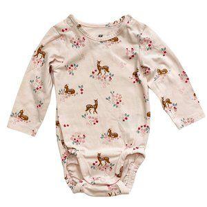 H&M Light Pink Baby Deer Onesie